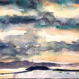 Evening Bay View Original Art