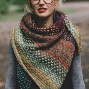 Nightshift Shawl Knitting Class on Zoom